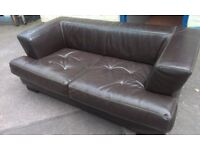 Brown leather sofa. FREE delivery in Derby