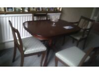 Dining Table, 1 carver, 3 chairs