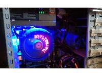 CUSTOM Desktop PC Intel Quad 3GHz ! Gigabyte MoBo . PRO Build LOOK . very reliable quiet Bargain!