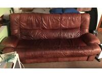 Classic 3 seater sofa and swivel chair