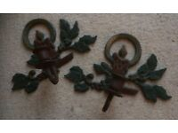 Pair of Vintage, Christmas Wall-Sconces