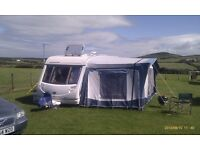 Bradcot Classic Awning 940, Standard Extension and Bedroom inner. Easy Alloy Poles