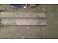 Bullnose concrete path edging slabs