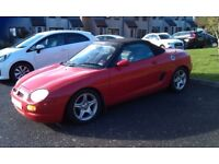 Red MGF soft top, genuine 19,000 miles