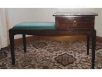 Telephone seat / table hallway furniture