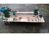 CORONET CL1 WOOD LATHE AND ACCESSORIES INCLUDING COMBINATION CHUCK