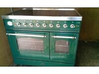 90cm britannia Ceramic top Electric range cooker low used in excellent condition