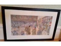 painting of old newcastle by endean, signed original
