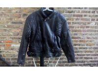 Mens Akito Black Leather Motorcycle Jacket