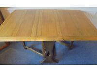 Oak Gate Leg Drop Leaf Dining Table
