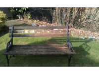 Garden Bench - with Cast Iron Ends £15