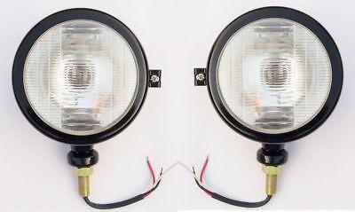 Tractor Head Lights Black Fits Massey Ferguson 1035 35 135 148