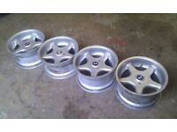 Set of 4 Genuine Brock B1's 16s for BMW E36 / E46 ect wheels alloys drift street stance deep dish