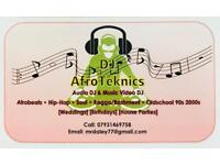 DJ hire for your parties - DJ Afroteknics - Afrobeats , Hip Hop, OldSchool, 90s, 2000s, Bashment