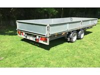 Ifor williams 16ft flatbed Ivor transporter Recovery trailer Brian Bateson