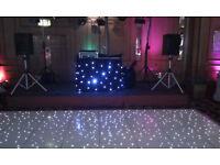ledj Professional DJ Booth Star Cloth & controller, various light settings