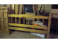 Double Pine Slat Bed