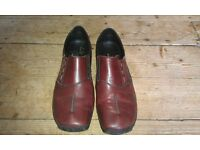 rieker leather shoes, lightweight - barely worn (Nottingham)
