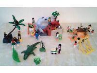 Playmobil Zoo Set Inc Penguins, Crocodile, Monkeys, Meerkats and a Dolphin. (Great Xmas Gift)