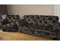 Beautiful two piece suite ....three seater sofa & chair