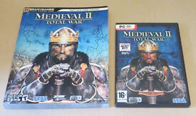 PC DVD ROM GAME: MEDIEVAL II TOTAL WAR with manual and Official Strategy Guide. Good Condition
