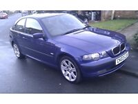 2003 Blue BMW 320 TD SE Compact Individual with 11 Months MOT
