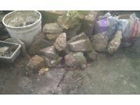 Selection of rockery stones/flints