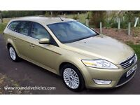 STUNNING 2008 Ford Mondeo 2.0 tdci GHIA estate auto 105k FSH two owners LOVELY CAR, 2017 mot