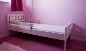 ikea white toddler's, girl's bed with mattress