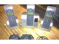 Home phone three set system cordless