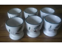 Denby Green Wheat large egg cups