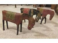 3 tin horses from 1950