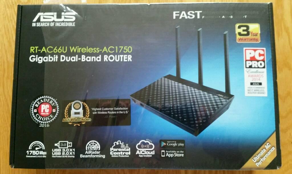 ASUS RT-AC66U AC1750 Dual Band Wireless Gigabit router