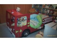 Children's Fire Engine Bed