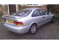 Honda Civic 1.6 LSi Coupe automatic (a/c) 65k silver with full MOT