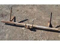 Mini Moke Rear Tubular Steel Protection Bar with Towing Bracket