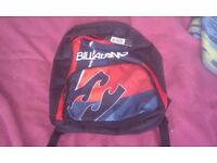 2 bags 1 x billabong rucksack 1x over shoulder bag