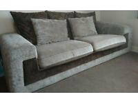 SCS 3/4 seater sofa with swivel chair/love seat