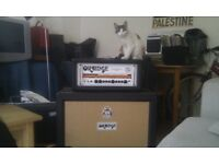 Orange Rockerverb 50 MKII amp with 2x12 Cabinet in black
