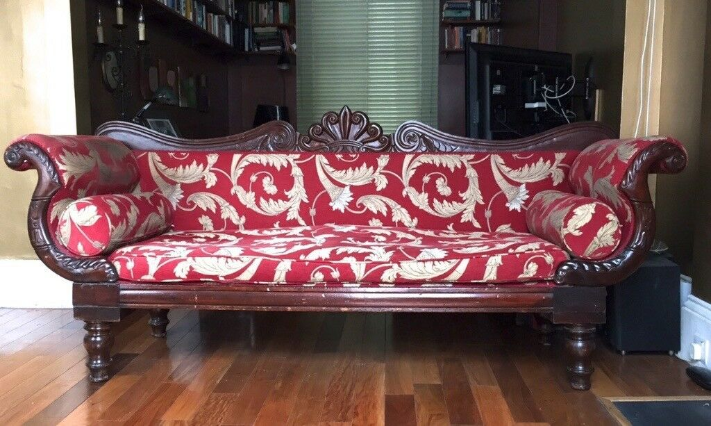 ORNATE SOFA, French style, carved BAROQUE SOFA COUCH SETTEE ANTIQUE ...