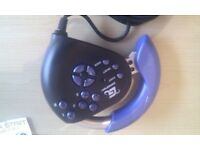 GAMESTER PRO RACER HAND HELD STEERING WHEEL FOR PLAYSTATION ONE