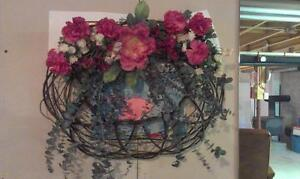 Floral wall decoration
