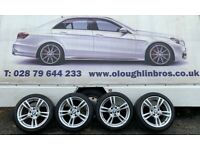 """BMW M Sport 18"""" staggered alloys with tyres"""