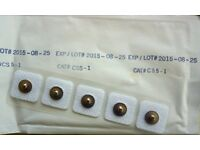 Tens machine type pads, 1,000 off in packs of 5 with 3.5mm tabs