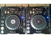 CDJ 1000 pair Mk2 CD Decks