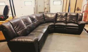 Montebello Leather Manual Reclining Sectional