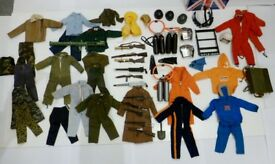 Action man collection of vintage uniforms and equipment by Palitoy