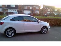 SEAT IBIZA 1.4 FR 150BHP - 2010 - WHITE - SERVICE HISTORY - MOT - EXCELLENT