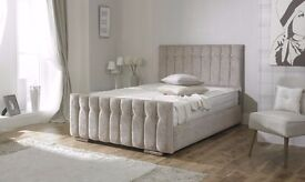 *FAST AND FREE UK DELIVERY* Diana Luxury Fabric Upholstered Ottoman Storage Bed - OVER 70% OFF!