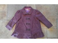 Girls M&S Autograph coat age 2-3 years